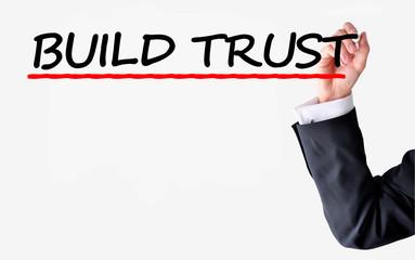 Build trust concept