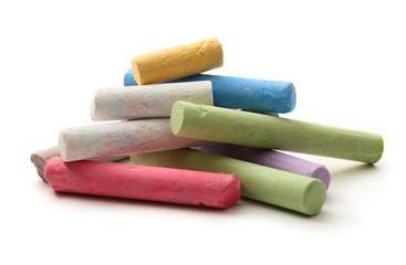 Pastel chalks in heap