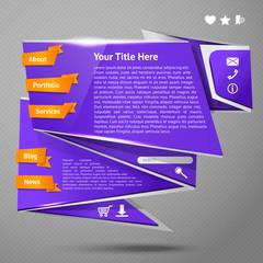 Origami website template