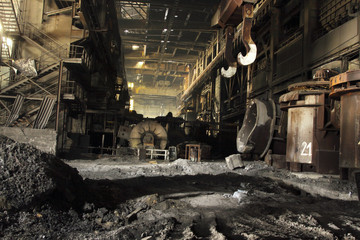usine de fabrication d'acier