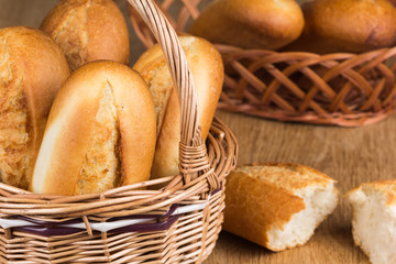 buns in the bread basket