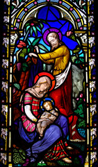 Birth of Jesus with Mary and Joseph