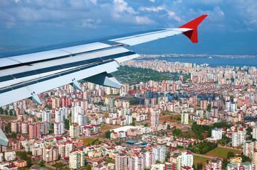 Flugzeug, Landeanflug Antalya Türkei