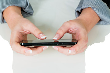 on mobile phone sms is written