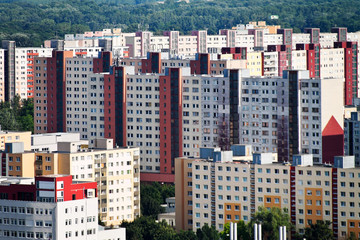 slovakia, bratislava, apartment buildings