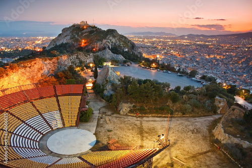 Papiers peints Athènes Athens at sunset from Likabetus Hill.