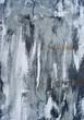 canvas print picture - blue grey Texture