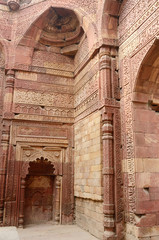 Remains of Qutub mosque in Delhi,India,Asia