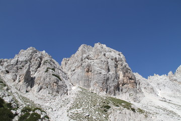 Wild rocky mountain in Jezerce, Albania