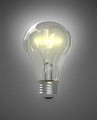 Light bulb illuminated