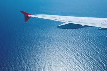 Landeanflug über dem Ozean