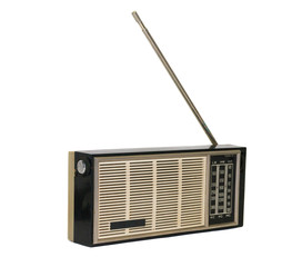 altes antikes radio, transistorradio, kofferradio