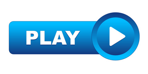 """PLAY"" Web Button (launch video watch live view symbol icon key)"