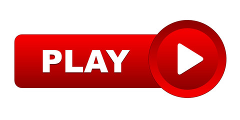 """PLAY"" Web Button (video watch live view launch symbol icon key)"