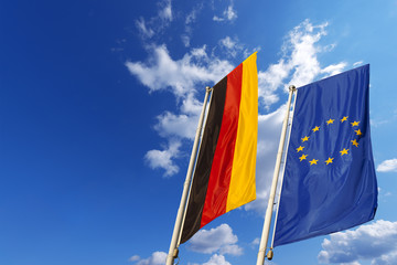Germany and European Union Flags