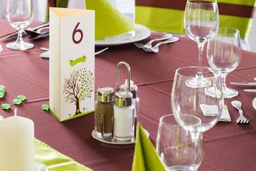 wedding table - colorized photo