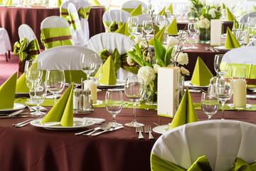 wedding or restaurant table set