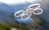 Fototapety Unmanned Aerial Vehicle drone in flight