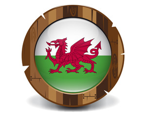 Wales wood button