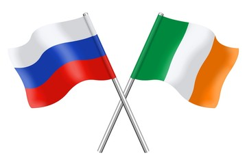 Flags: Russian Federation and Ireland