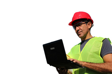 Engineer Using Laptop