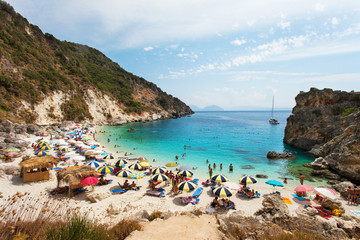 View of Agiofili Beach, Lefkada, Greece