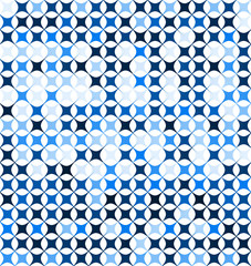 Blue, abstrat repeatable, seamless vector pattern background