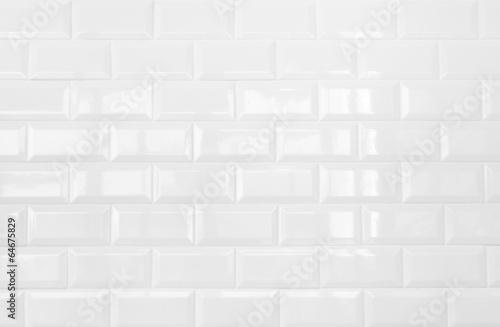 white ceramic brick tile wall,background - 64675829