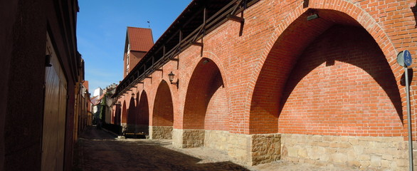 Panorama of old town wall of Riga, Latvia