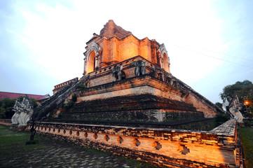 grand pagoda  Wat Chedi Luang , Chiangmai , Thailand