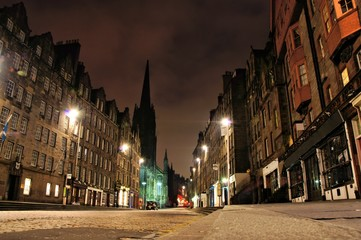 Night view of the Royal Mile, Edinburgh, Scotland