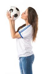 Mondiali Calcio - Ragazza Tifosa Italia