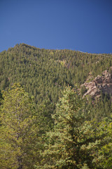 View on Highway in fall to Cheyenne Mountain