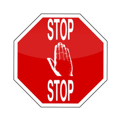 STOP Schild mit Hand