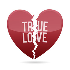 Broken True Love Heart Shape