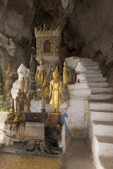 Pak Ou Caves - Buddhist wooden statues