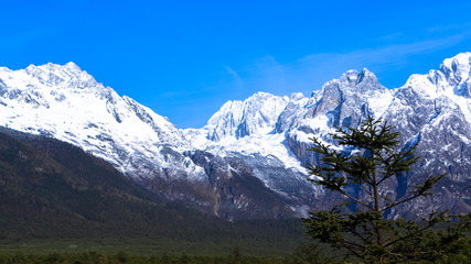 Beautiful nature of Jade Dragon Snow Mountain