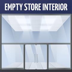 Empty store interior