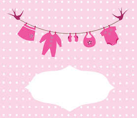 vector newborn baby girl clothes