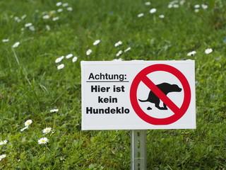 Hier ist kein Hundeklo!