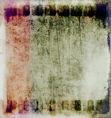 very old grunge film strip background