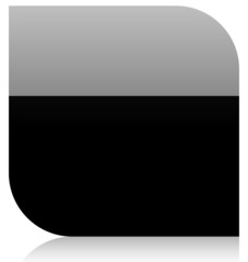 blank black shape with gloss (gradient)