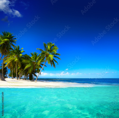 Tuinposter Eiland Art beautiful seaside view background