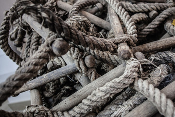 Tangled rope ladder