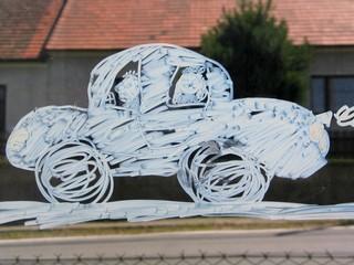 Children Painting Car