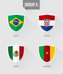 Brazil Soccer Championship 2014 Group A flags