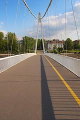 White bridge in Osijek over river Drava