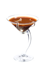Chocolate cheese martini cocktail