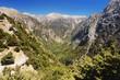 View of the Samaria Gorge, Crete, Greece