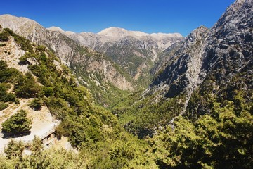 View of the Samaria Gorge, Crete, Greece